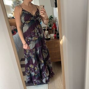 Floral Anthropologie maxi dress